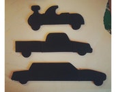 Chalkboard Wooden Magnetic Puzzle - Cars