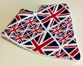 Union Jack Baby or Toddler Dribble Bib for Olympic Babies
