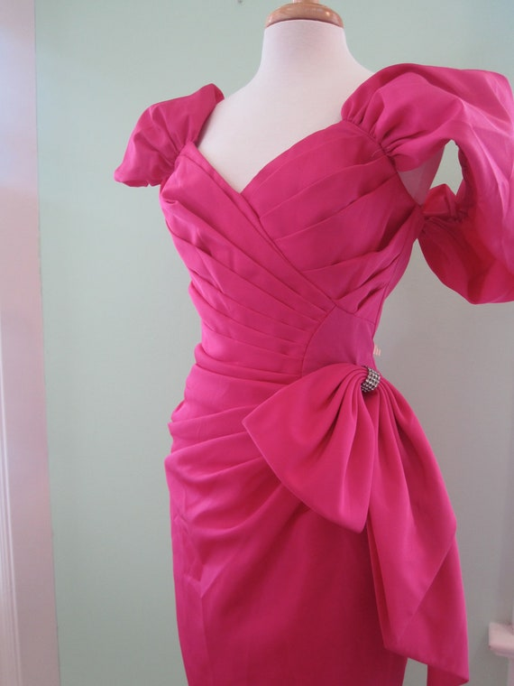 Hot Pink 80's Prom Dress