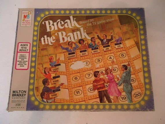 items similar to vintage board game break the bank tv game 1977 on etsy. Black Bedroom Furniture Sets. Home Design Ideas