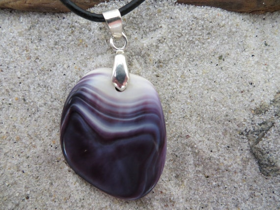 Cape Cod Wampum shell necklace purple jewelry