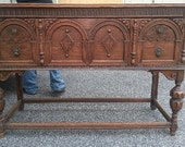 Solid Wood Carved Antique Buffet