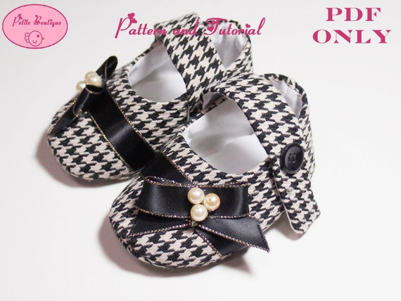 Baby shoe pattern - Chidori Tweed Mary Jane Shoes