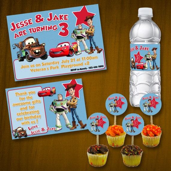 Disney/Pixar Characters Birthday Party Package / Digital Files