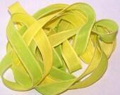 Sassy Silks Hand Painted/Dyed Ribbons Lemons N' Limes