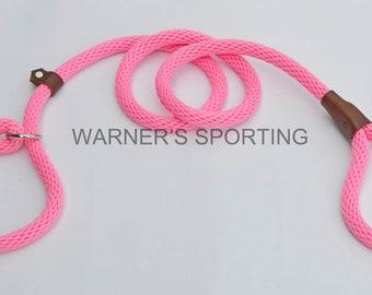 "Warner Brand braided nylon rope British slip lead dog leash 1/2"" X 6 ft."