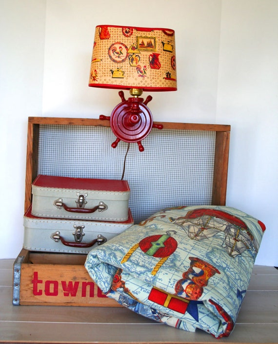 ahoy there, matey....vintage nautical quilt blanket