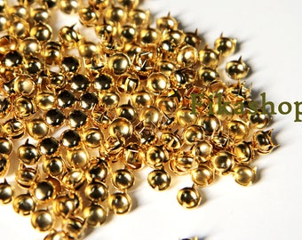 6mm 100pcs Gold round studs / HIGH Quality -  Fikashop