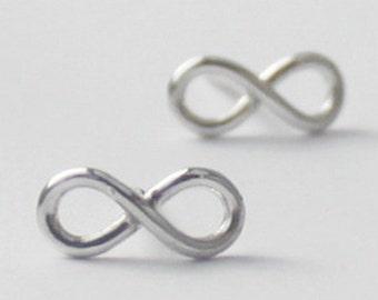 Infinity Earrings , 925 Sterling silver, inspirational Earrings