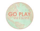 Pastel Spring Wanderlust Exercise Motivation Art Print, coral and mint, Adventure travel Globe art, modern, dorm, kids