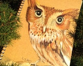 Spiral bound eco-friendly Screech Owl Journal