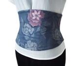 Waist Training Underbust Corset Belt Japanese Kimono Wool