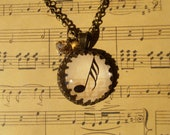 Music is Golden - Music lovers vintage Single Music Note Pendant