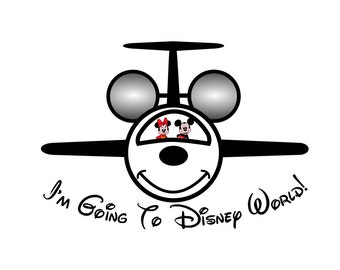 I'm Going to Disneyworld Disneyland Shirt Mickey Jet Personalized Custom Iron on Transfer Decal(iron on transfer, not digital download)