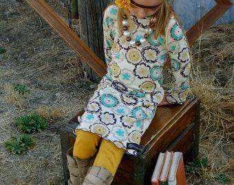 Mustard Yellow leggings and ruffled leggings by GreenStyle