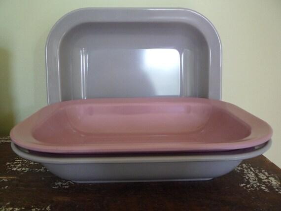 Vintage Melamine Texas Ware Serving Bowls (set of 3), children table, famly meal