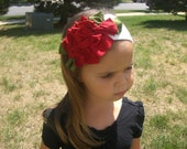 Made to Order Red Rose Jersey Knit Headband