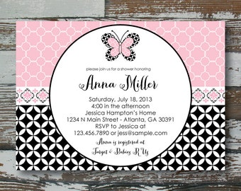 Lambs and Ivy Duchess Baby Shower Invitation - PRINTABLE
