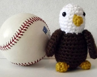 Stuffed Toy Amigurumi Bird Bald Eagle