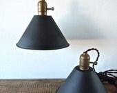 matte black industrial pendants
