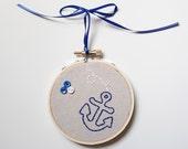 Nautical anchor hoop art