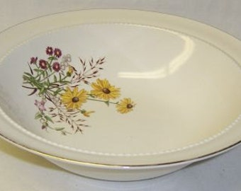Hall China BROWN EYED SUSAN 9 Inch Round Vegetable Serving Bowl