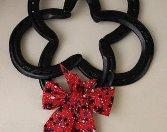 Horseshoe Star Wreath- Black Finish