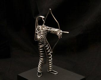Wire Archer Sculpture