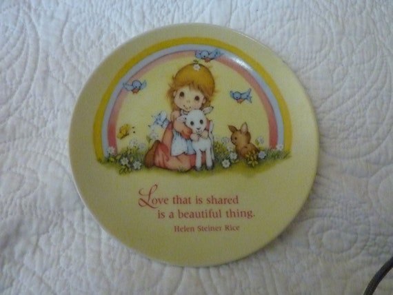 Vintage 1970s Collectable China wall plate - Helene Stiner Rice