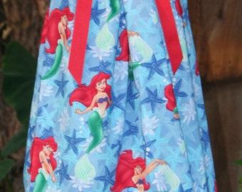 Pillowcase dress featuring Ariel the Little Mermaid - Sizes 3 months thur 6/7 :CH040/CH041