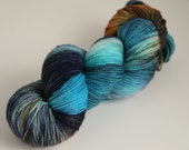 "Handpainted 100% Superwash Sock Yarn ""Mineral Springs"" -- Granite Sock"