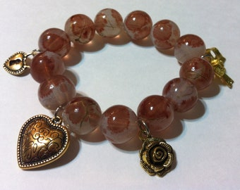 Golden Alizarin Stretch Bracelet