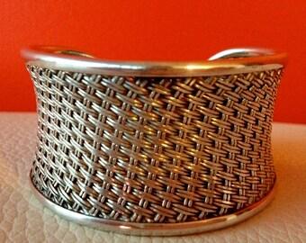 Silver Link Cuff Bracelet