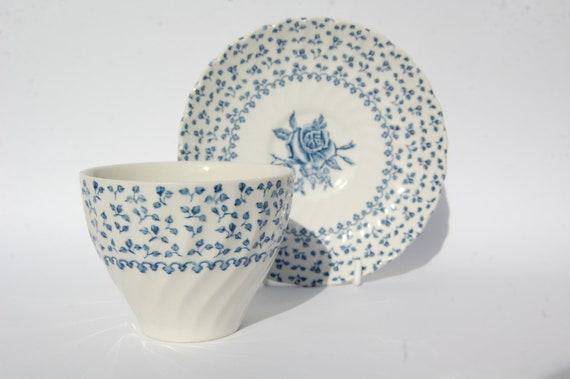 VINTAGE Tea Cup and Saucer, Royal Victoria England, Rose Bouquet, Kitchen decoration