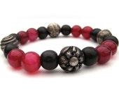 Beaded stretch bracelet, handmade beaded bracelet