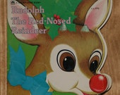 Vintage Rudolph The Red-Nosed Reindeer 1972 childrens Christmas Book by Eileen Daly