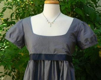 Regency Jane Austen Inspired Mini Cotton Empire Waist Sun Dress