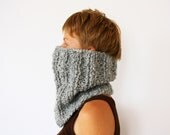 Handknit Chunky Cowl Scarf, Infinity Unisex Circle Scarf, Valentines Day gift for her him, READY TO SHIP