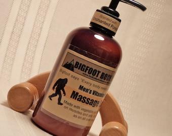 8oz Mens Vitamin Packed Massage Lotion, Bigfoot, Yeti, Skin Care, Stinkin Sasquatch, Stinking Sasquatch, Lotions and Potions