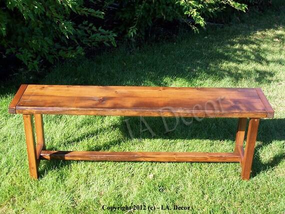Reclaimed Wood Trestle Bench - Barnwood bench with trestle base