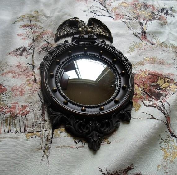 Vintage Homco Convex Mirrior Colonial  Porthole Eagle Plastic Frame Homco Mirrior