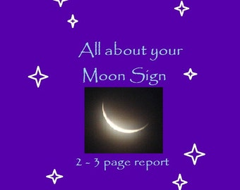 All About Your Moon Sign - Email Reading
