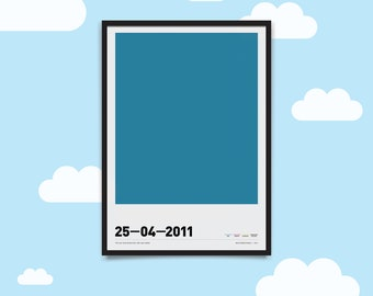 Hue are You? CMYK Personalised A3 Poster - Baby Birth Date