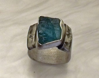 Silver Apatite ring