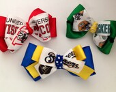 Sports Team Bows- Green bay Packers, Milwaukee Brewers, Wisconsin Badgers- Customize Your Teams