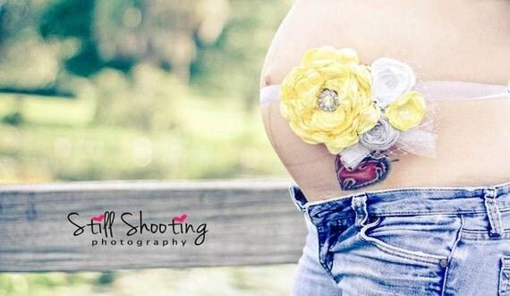 Yellow Maternity Sash Maternity Photo Prop. Maternity Belt. Maternity Prop