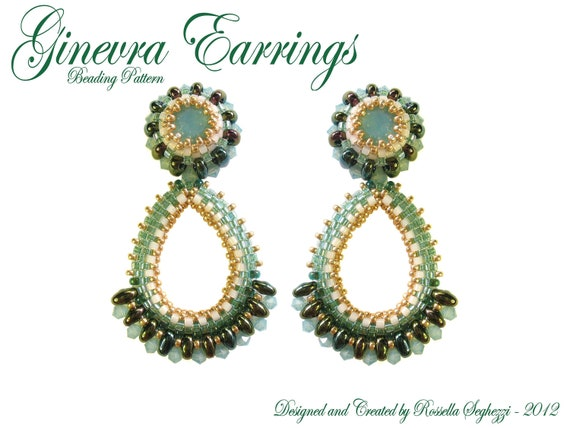 Bead Pattern Earrings Ginevra - Pdf file Only for personal use