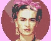 Frida Kahlo.  Cross-Stitch Pattern.  Custom Order to Amy.