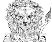 Not A Tame Lion - Coloring Page