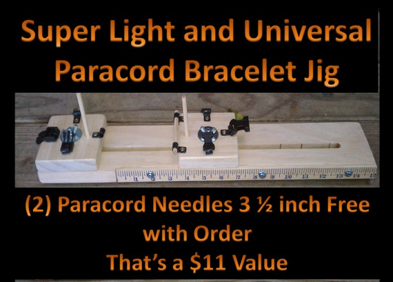 Super Light and Universal Paracord Bracelet Jig w/ FREE 2 Paracord Needles